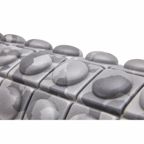 Adidas ADAC-11505GR Round Textured Foam Fitness Muscle Massage Roller, Grey Camo Perspective: right
