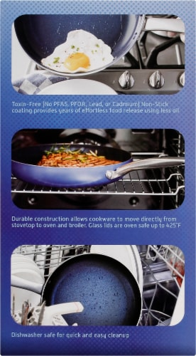 Blue Diamond Cookware Set - Blue Perspective: right
