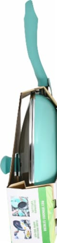 GreenLife Diamond Ceramic Non-Stick Covered Frying Pan - Turquoise Perspective: right
