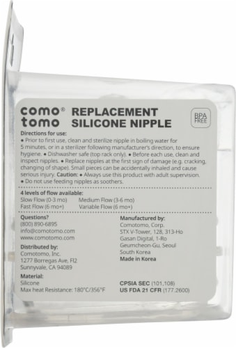 Comotomo  Replacement Silcone Nipples 6+ Mo Perspective: right