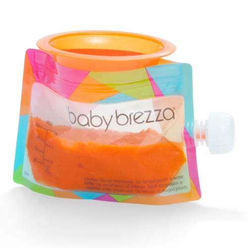 Baby Brezza Reusable Food Pouch Set Perspective: right