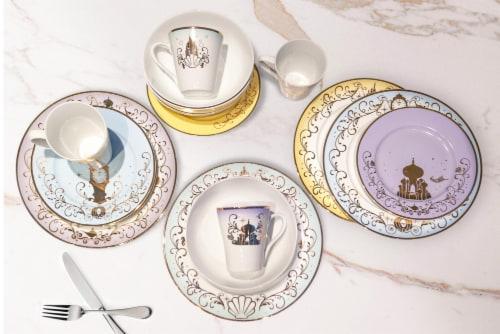 Disney Princess 16-Piece Dinnerware Set | Cinderella, Jasmine, Ariel, Belle Perspective: right