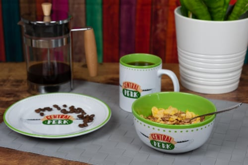 Friends Central Perk Coffee House Dining Set Collection | 3-Piece Dinner Set Perspective: right