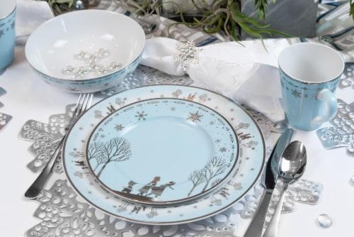 Disney Frozen 2 Anna & Elsa Ceramic Dining Set Collection | 16-Piece Dinner Set Perspective: right