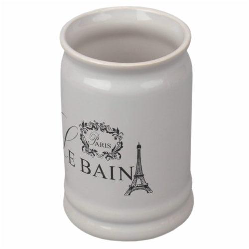 Le Bain Paris  Eiffel Tower 4 Piece Ceramic Bath Accessory Set, White Perspective: right