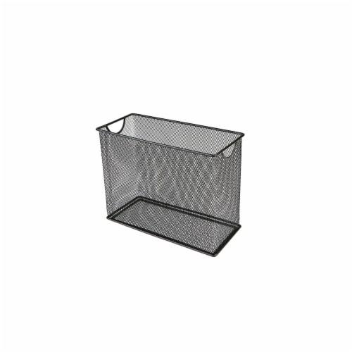 Mind Reader Metal Mesh File Organizer Storage Basket - Black Perspective: right