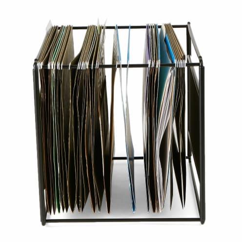 Mind Reader Desktop File Folder Organizer Box - Black Perspective: right