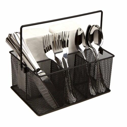 Mind Reader Storage Basket Organizer 2 Pack - Black Perspective: right
