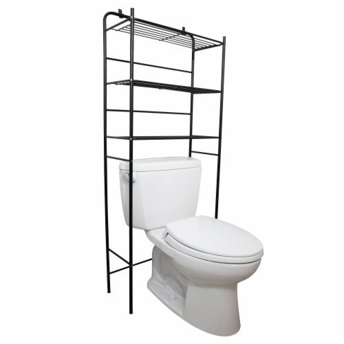 Mind Reader 3-Tier Over the Toilet Rack - Black Perspective: right