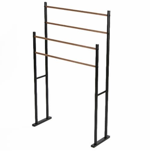 Mind Reader 4-Bar Freestanding Towel Rack - Black Perspective: right