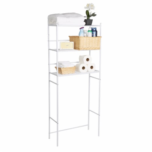 Mind Reader 3-Tier Over the Toilet Rack - White Perspective: right