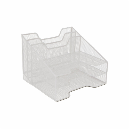 Mind Reader 5 Compartments Desk Organizer Tray - White Perspective: right