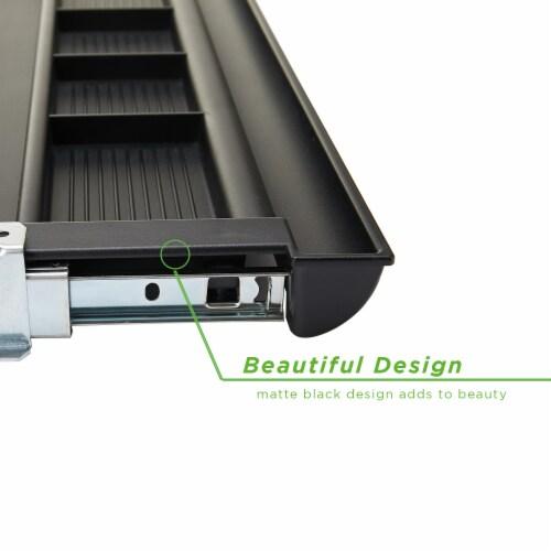 Mind Reader Under Desk Adjustable Keyboard Organizer - Black Perspective: right