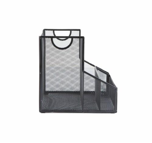 Mind Reader Metal Mesh Large File Organizer Storage Basket - Black Perspective: right