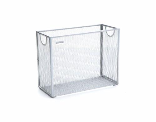 Mind Reader Metal Mesh File Organizer Storage Basket - Silver Perspective: right