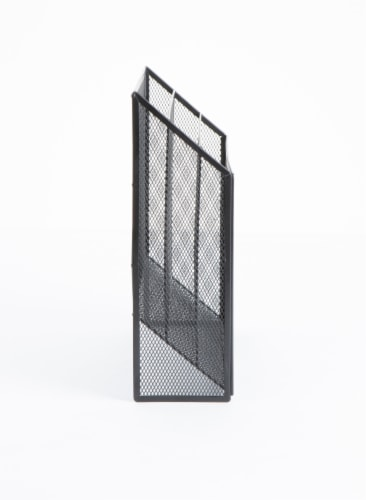 Mind Reader 3-Tier Mesh Free Standing and Wall File Holder - Black Perspective: right