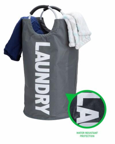 Mind Reader 82 Liter Large Laundry Hamper Basket - Grey Metallic Perspective: right