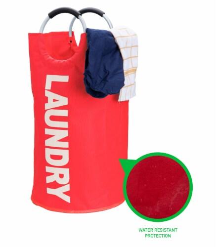 Mind Reader Large Laundry Hamper Basket - Red Perspective: right