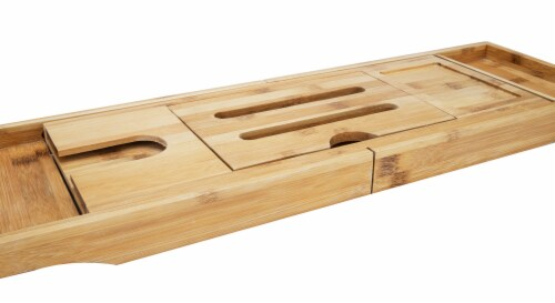 Mind Reader Luxury Extendable Bamboo Bath Caddy - Brown Perspective: right