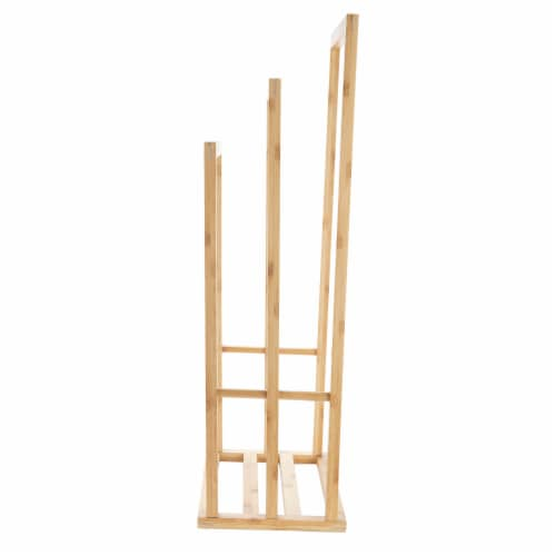 Mind Reader 3-Tier Freestanding Bamboo Drying Rack Perspective: right