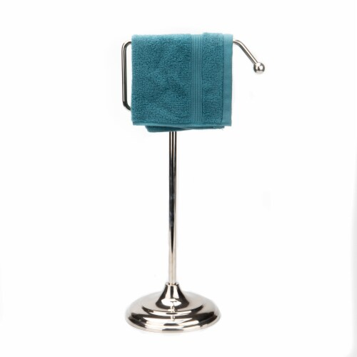 Mind Reader Freestanding Decorative Towel Stand - Silver Perspective: right