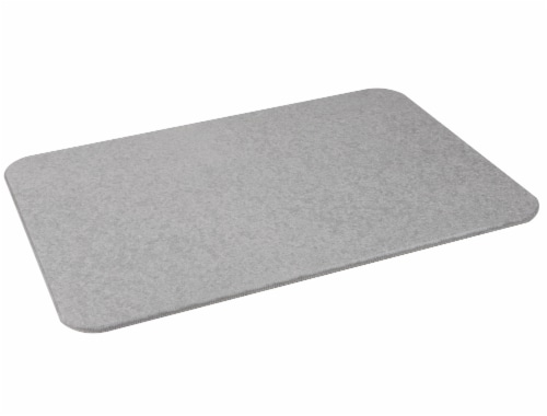 Mind Reader Diatomite Fast Drying Bath Mat - Gray Perspective: right