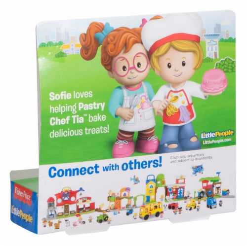 Fisher-Price® Pastry Chef Tia & Sofie Little People Figures Perspective: right