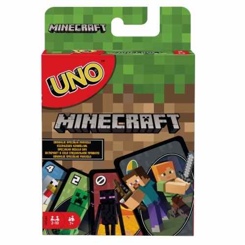 Mattel Uno Minecraft Card Game Perspective: right