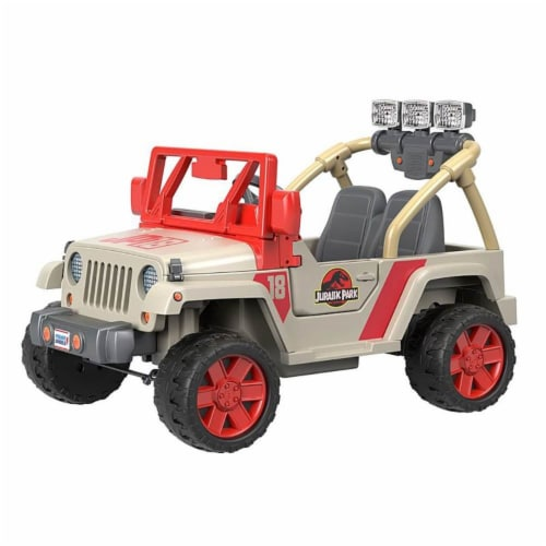Fisher-Price® Power Wheels Kids Electric 12 Volt Jurassic Park Jeep Perspective: right