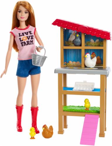 Mattel Barbie® Chicken Farmer Doll Playset Perspective: right