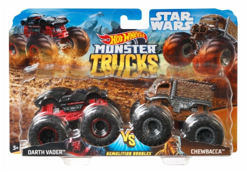 Mattel Hot Wheels® Monster Trucks Demolition Doubles Racing vs Baja Buster Vehicle - Assorted Perspective: right