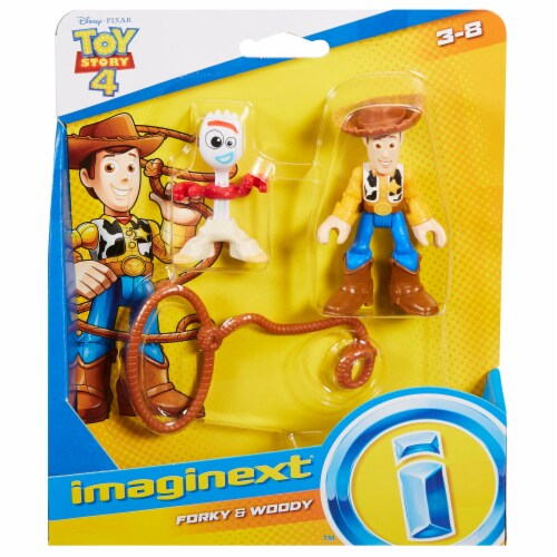 Fisher-Price® Imaginext® Disney Pixar Toy Story 4 Woody & Forky Figures Perspective: right