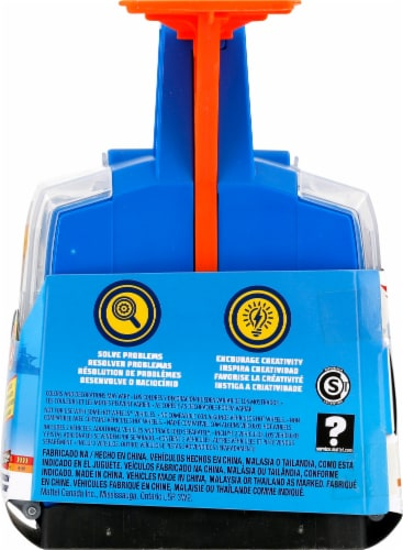 Mattel Hot Wheels® Track Builder Display Launcher - Blue/Orange Perspective: right