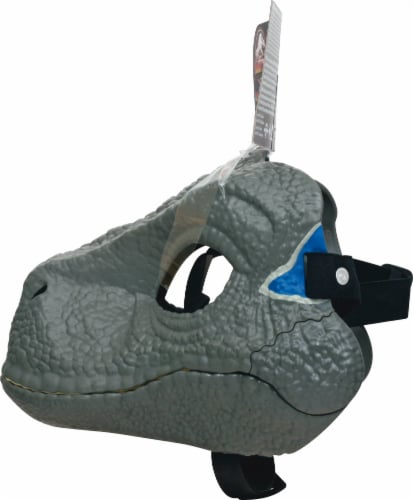 Mattel Jurassic World Velociraptor Camp Cretaceous Mask - Blue Perspective: right