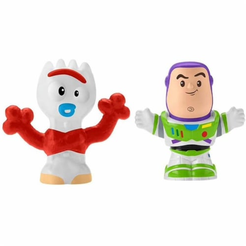 Fisher-Price® LittlePeople Toy Story 4 Buzz Lightyear & Forky Figures Perspective: right