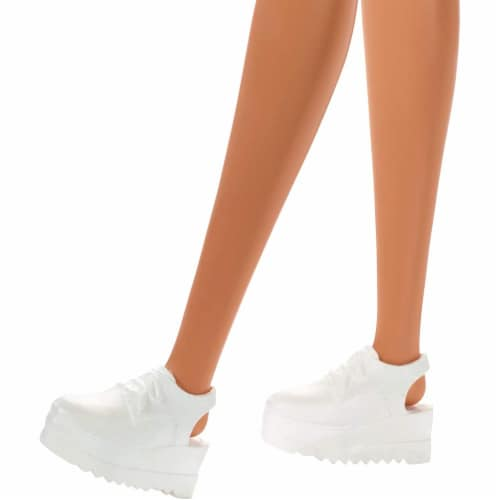 Mattel Barbie® Heart-Print Dress & Sneakers Blonde Doll Perspective: right