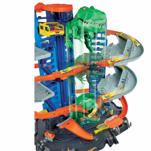Mattel Hot Wheels® City Ultimate Garage Robo T-Rex Multi-Level Tower Set Perspective: right