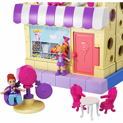 Pollyville Candy Store with 4 Floors, 2 Dolls and 5 Accessories Perspective: right