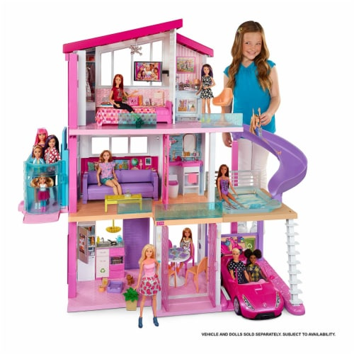 Mattel Barbie Dreamhouse with New Elevator Playset Perspective: right