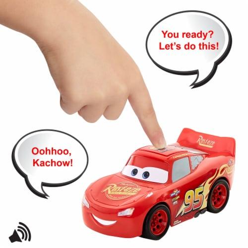 Mattel Disney Pixar Cars Track Talkers Lightning McQueen Vehicle Perspective: right