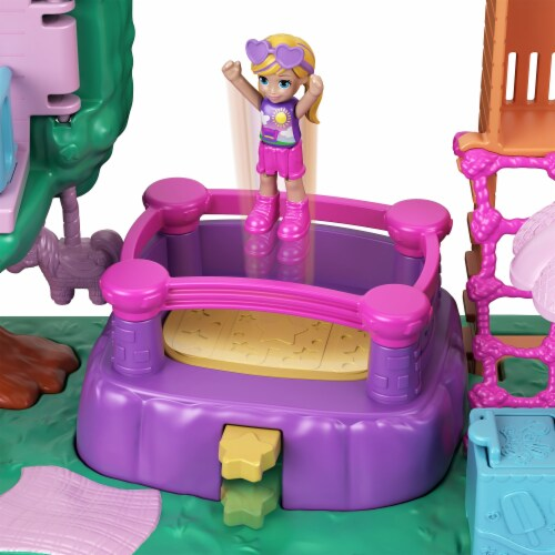Mattel Polly Pocket Pollyville Playground Adventure Play Set Perspective: right