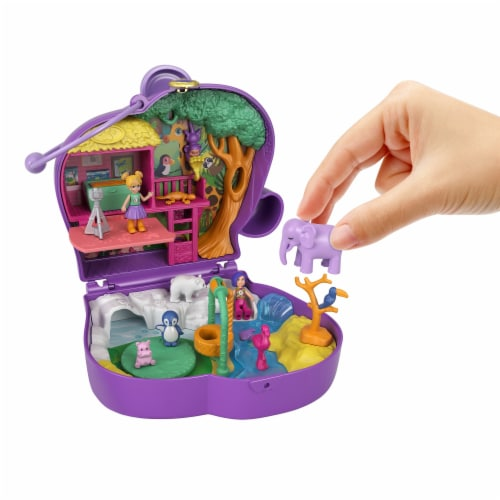 Mattel® Polly Pocket™ Elephant Adventure Compact Playset Perspective: right