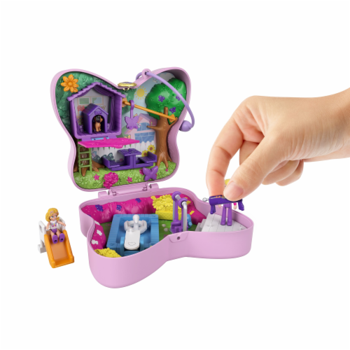 Mattel® Polly Pocket™ Backyard Butterfy Compact Playset Perspective: right