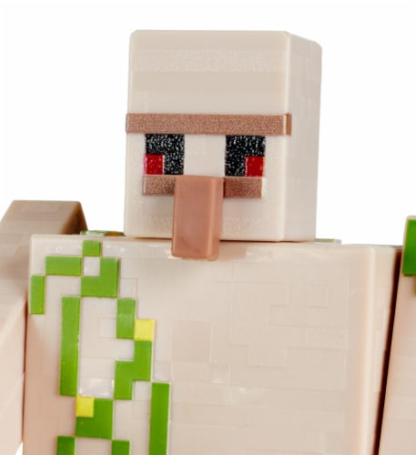 Minecraft Craft A Block Steve Iron Golem Figure Set Perspective: right