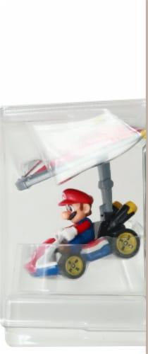 Mattel Hot Wheels® Mario Kart Mario Standard Kart + Super Glider Figure Perspective: right