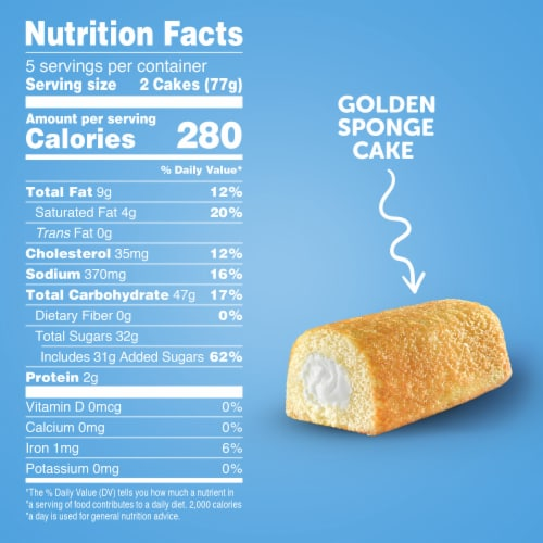 Hostess Twinkies Golden Sponge Cakes Perspective: right