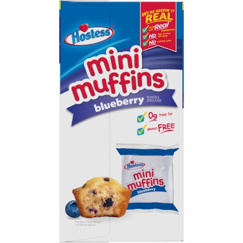 Hostess Blueberry Mini Muffins 20 Count Perspective: right