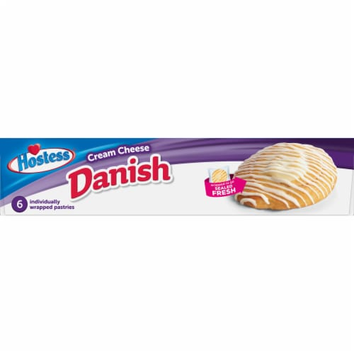 Hostess Cream Cheese Round Danish 6 Count Perspective: right