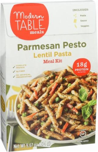 Modern Table Parmesan Pesto Lentil Pasta Meal Kit Perspective: right
