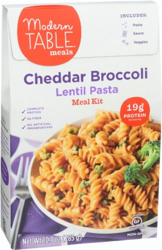 Modern Table Cheddar Broccoli Lentil Pasta Meal Kit Perspective: right